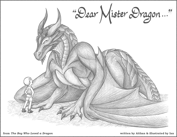The Boy Who Loved a Dragon - Bookplate Style 2
